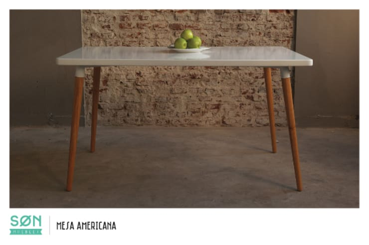 Mesa Comedor Americana: Comedores de estilo escandinavo por SØN Muebles