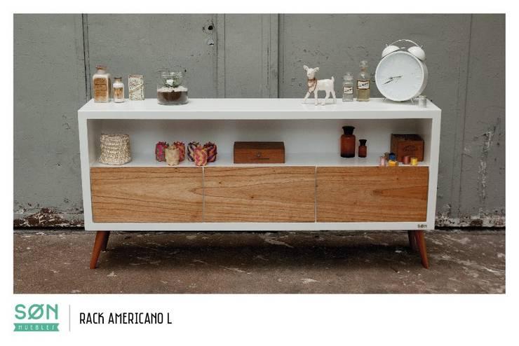 Rack Americano L: Livings de estilo escandinavo por SØN Muebles