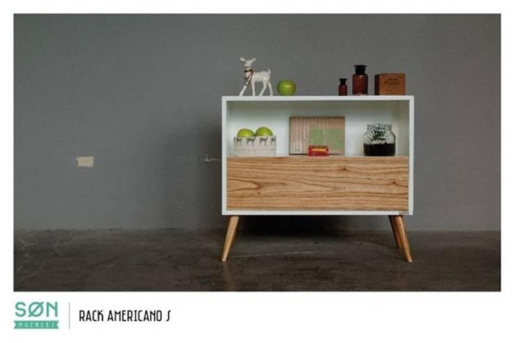 Rack Americano S: Livings de estilo escandinavo por SØN Muebles