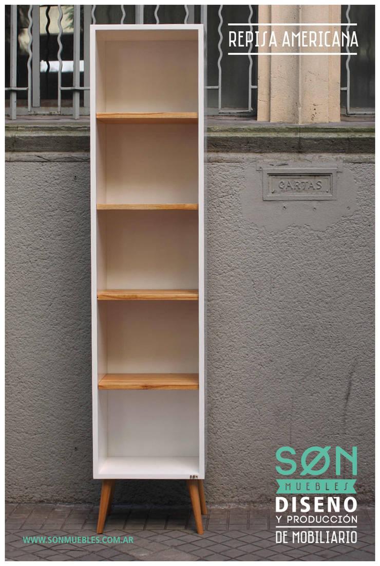 Biblioteca Americana: Estudio de estilo  por SØN Muebles