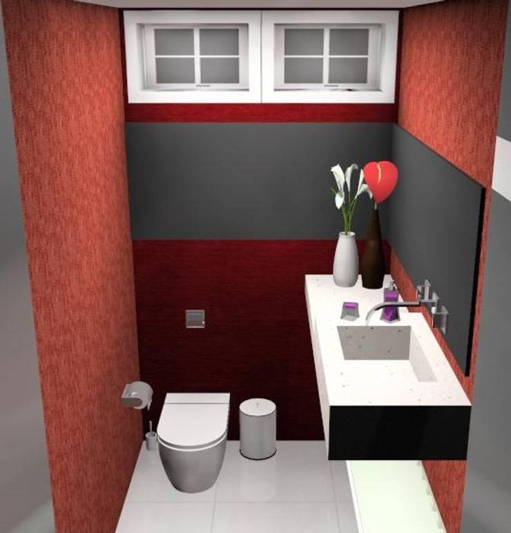 LAVABO: Banheiros ecléticos por AA MENDES ARQUITETURA E DESIGN LTDA