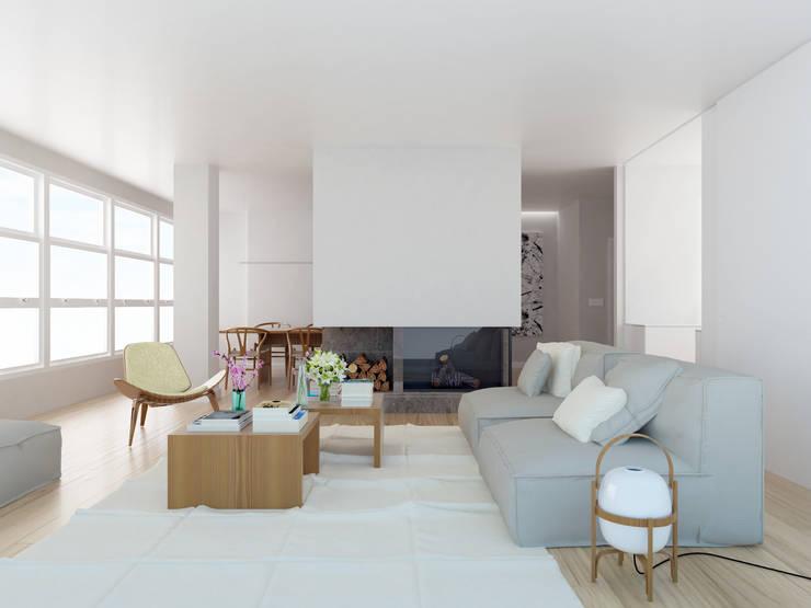 Salas de estar escandinavas por ESTUDIO BAO ARQUITECTURA