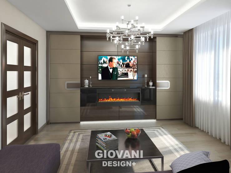 Квартира для молодой семьи: Гостиная в . Автор – Giovani Design Studio, Минимализм