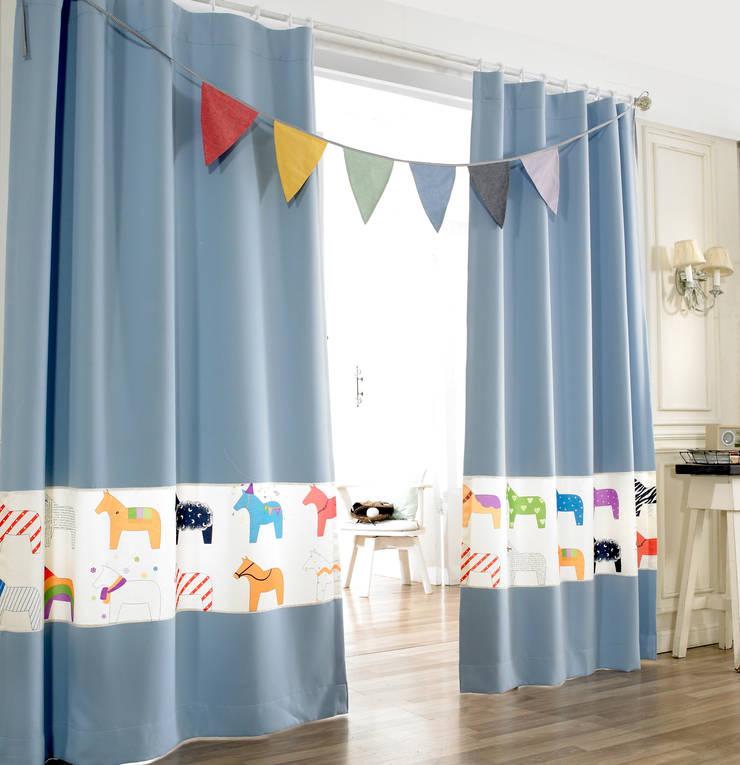 파스텔 블루 아이방 암막 커튼 : 포그난의  아이 방