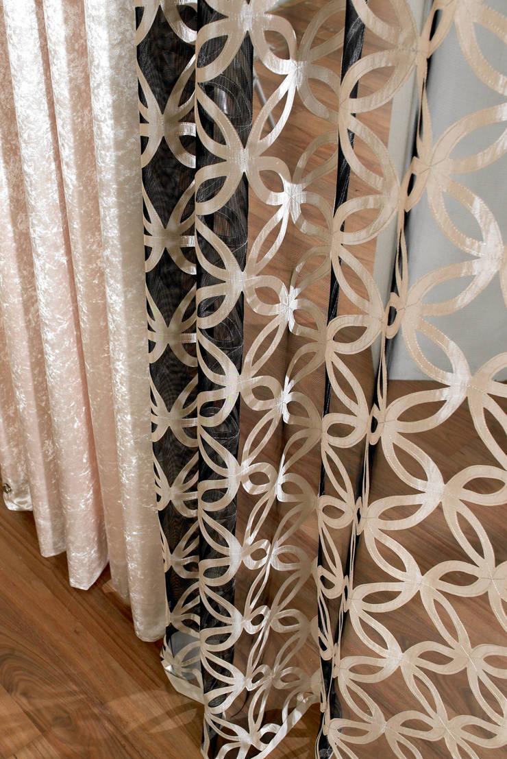 독특한 써클 패턴의 커튼: 포그난의  가정 용품