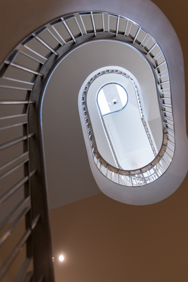 Staircase at Bedford Gardens house:  Corridor & hallway by Nash Baker Architects Ltd, Modern Stone