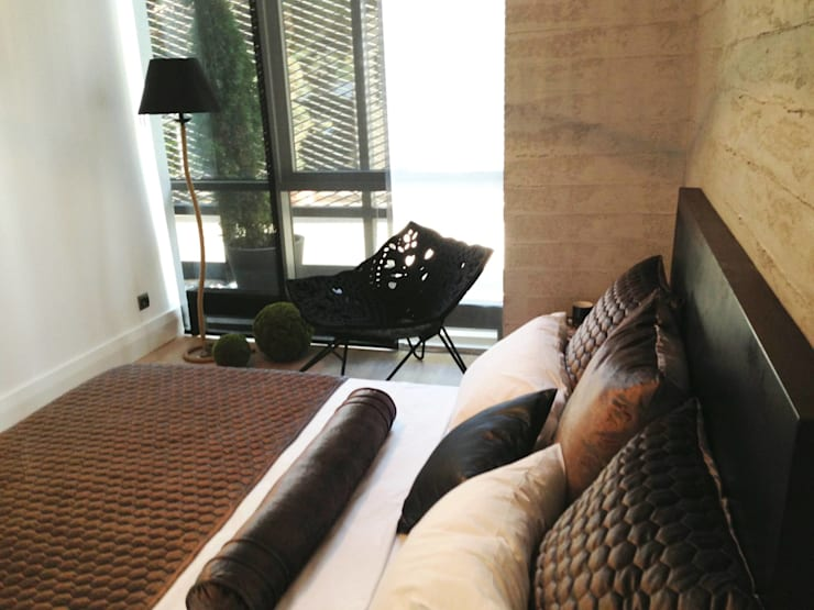 SPR TASARIM MIMARLIK IC MIMARLIK DANISMANLIK – Metropol İstanbul Örnek Daire:  tarz Yatak Odası