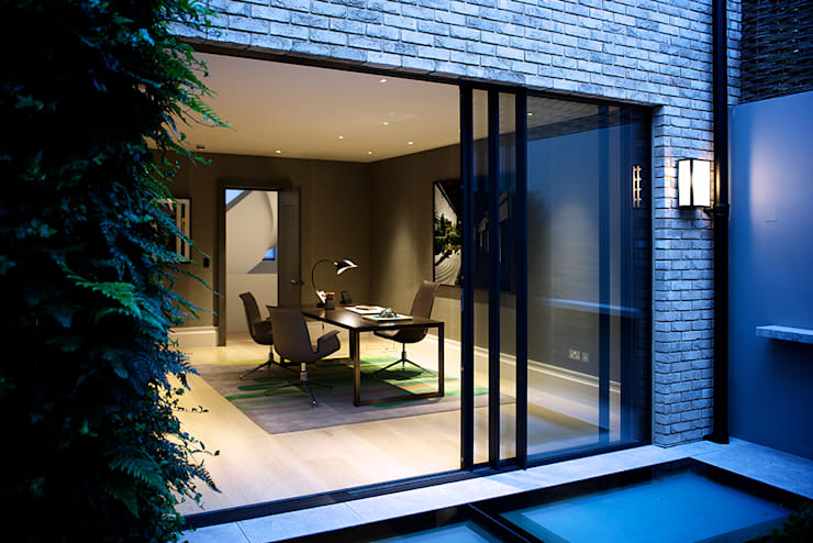 The Office from the back garden at Bedford Gardens House. : modern Study/office by Nash Baker Architects Ltd