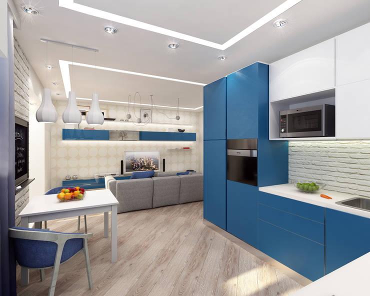 ЖК Мишино, квартира для молодой девушки: Столовые комнаты в . Автор – Лето Дизайн
