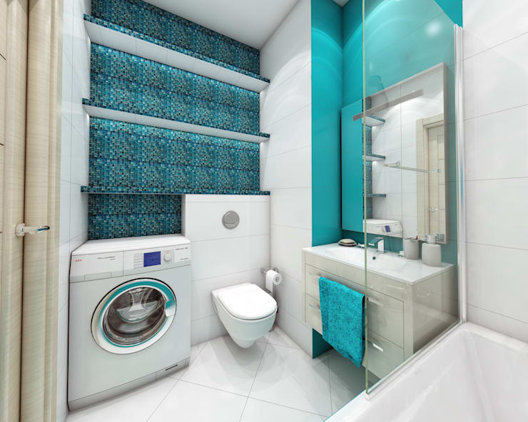 ЖК Мортон Град, логово холостяка.: Ванные комнаты в . Автор – Лето Дизайн