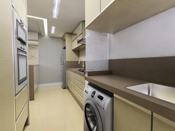 Apartamento Itoupava Norte Blumenau: Cozinhas  por Cas Arquitetos Associados
