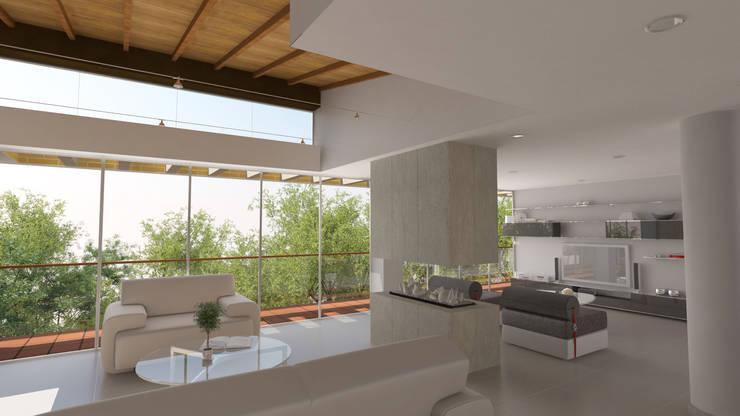 Casa Hernandez: Salas de estilo  por Lápiz De Sueños