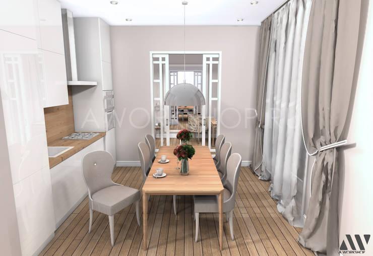 Квартира на Волжском проспекте: Столовые комнаты в . Автор – A.workshop