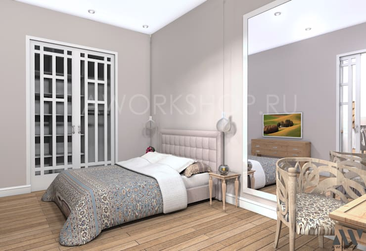 Квартира на Волжском проспекте: Спальни в . Автор – A.workshop