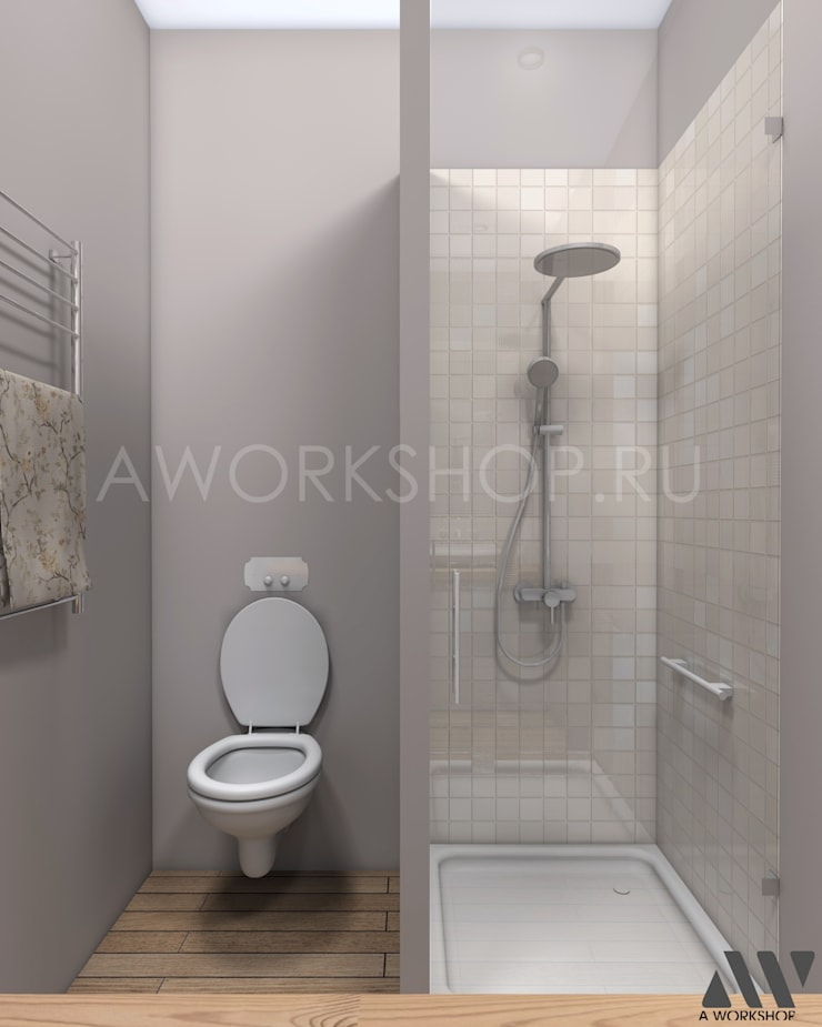 Квартира на Волжском проспекте: Ванные комнаты в . Автор – A.workshop