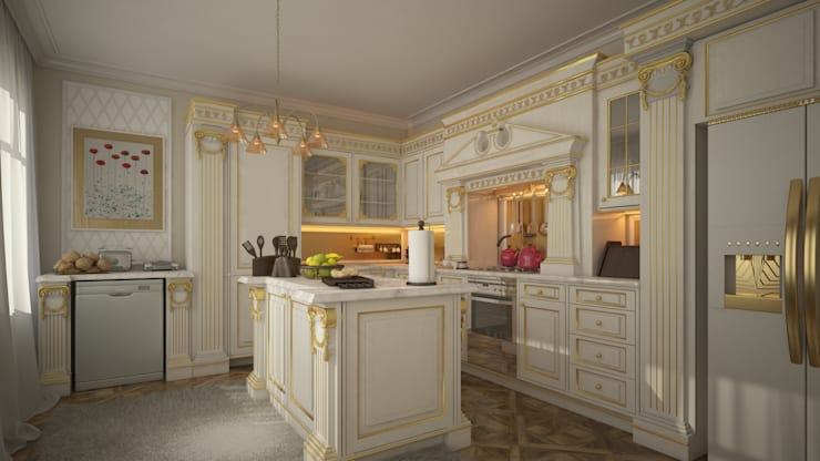Design by Bley – Avantgarde Kitchen:  tarz Mutfak