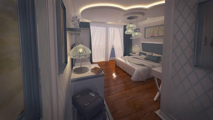 Design by Bley – Floating Hotel Standart Room Design:  tarz İç Dekorasyon