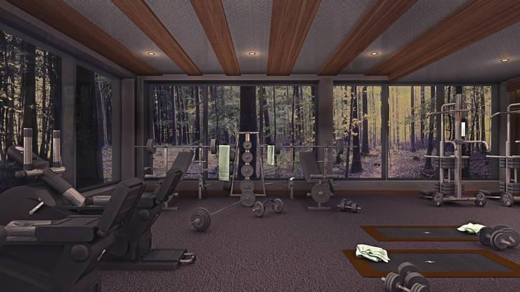 Design by Bley – Gym In The Forrest: modern tarz , Modern