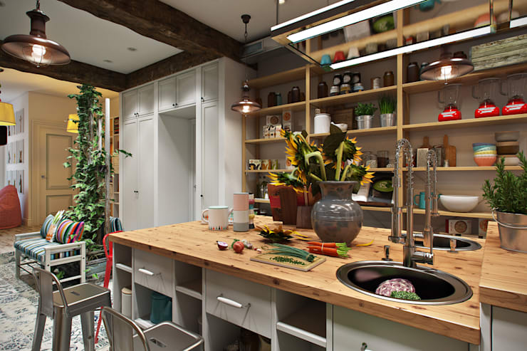 Детская Кулинарная Школа: Столовые комнаты в . Автор – Дарья Баранович Дизайн Интерьера