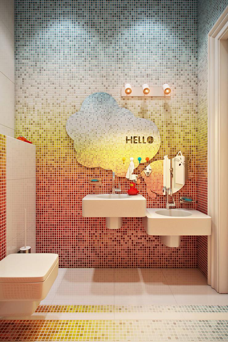 Детская Кулинарная Школа: Ванные комнаты в . Автор – Дарья Баранович Дизайн Интерьера