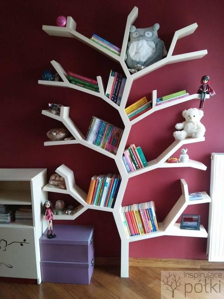 Półka drzewo 210x130x18cm: styl , w kategorii Pokój dziecięcy zaprojektowany przez INSPIRUJĄCE PÓŁKI