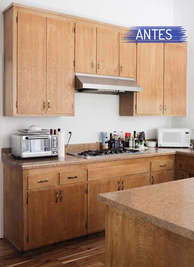 Antes e depois da cozinha de Emily Henderson por Casa de Valentina Moderno