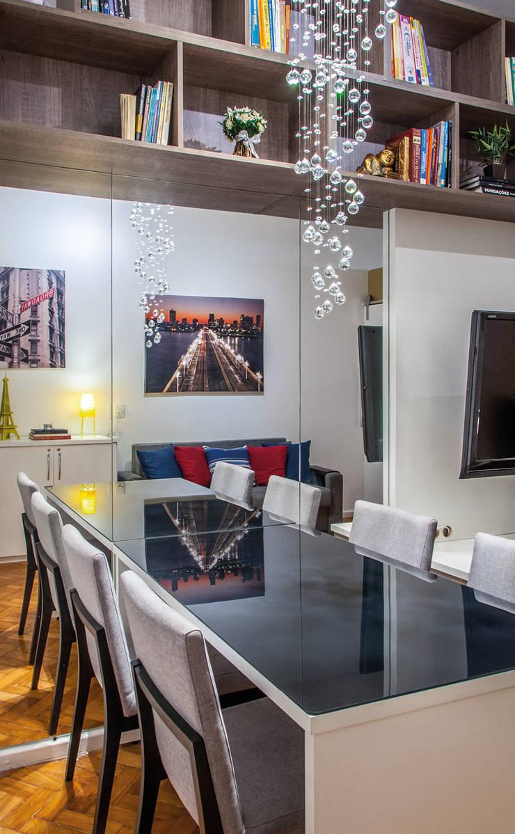 Loft Copacabana: Salas de jantar  por Millena Miranda Arquitetura,