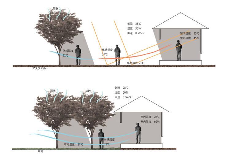 温度差の体感: 庭 遊庵が手掛けた庭です。,