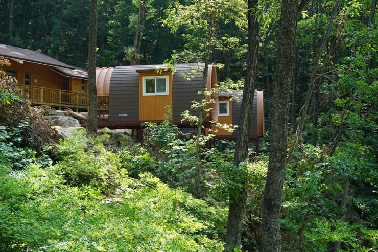 숲속의 캐빈 하우스 ( 져스틴 하우스의 아치하우스): Just-In House(져스틴 하우스)의  주택