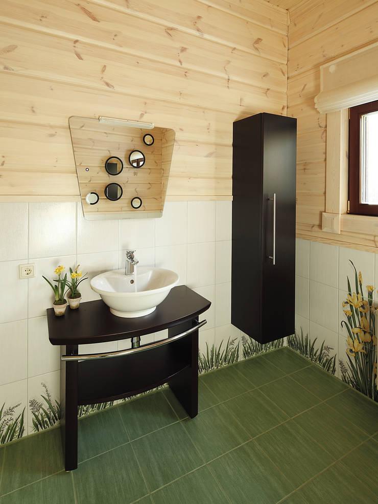 Деревянный дом Хонка в г.Пермь: Ванные комнаты в . Автор – Marina Pennie Design&Art,