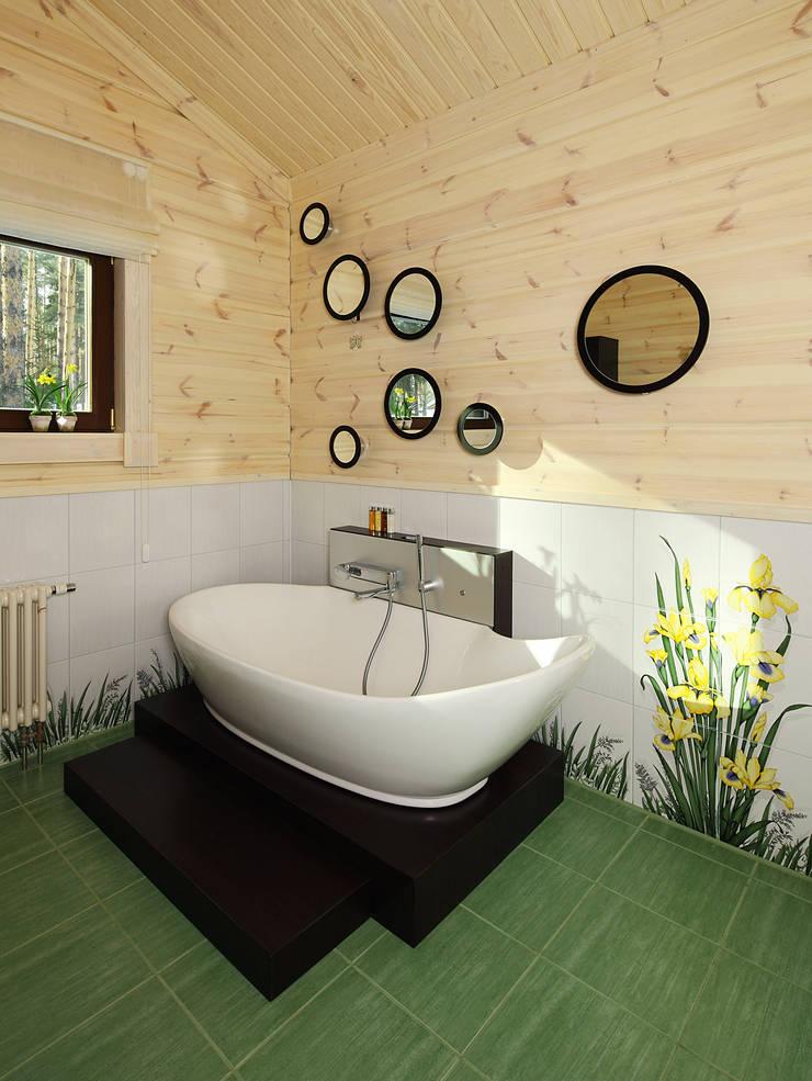 Деревянный дом Хонка в г.Пермь: Ванные комнаты в . Автор – Marina Pennie Design&Art