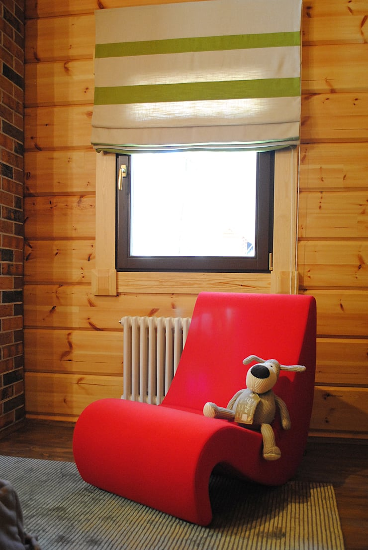 Деревянный дом Хонка в г.Пермь: Детские комнаты в . Автор – Marina Pennie Design&Art,