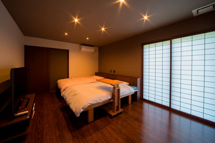 作品: 建築研究室セクションアール北陸アトリエが手掛けた寝室です。