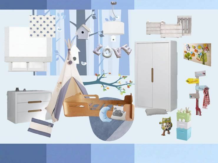 Las ideas para su habitación.:  de estilo  de RoomRoomBebé
