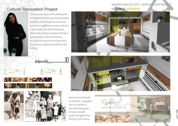 cyprus interiors – Renovasyon proje layout:  tarz Ofisler ve Mağazalar