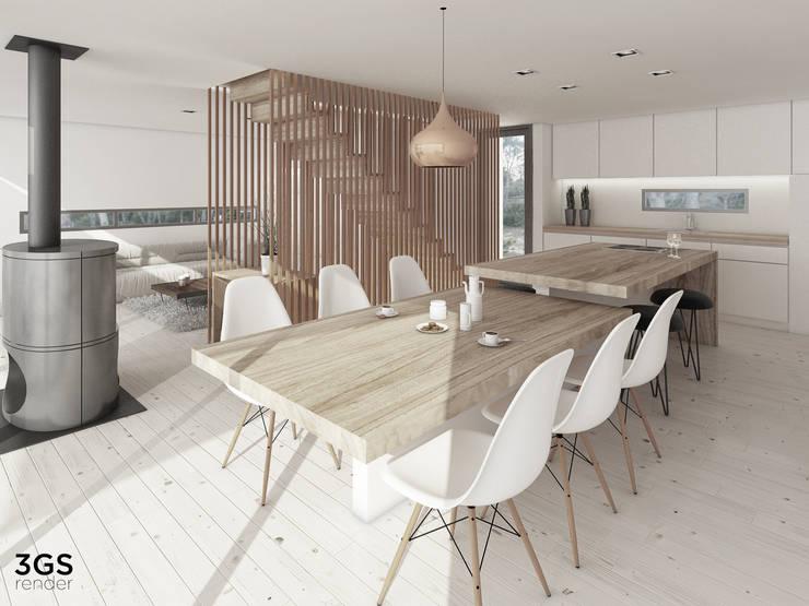 3GS Render: Livings de estilo  por 3GS render,Moderno