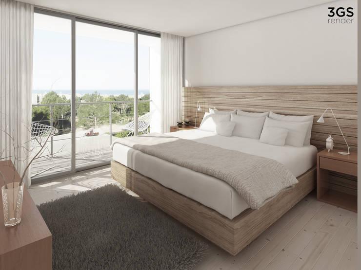 3GS Render: Dormitorios de estilo  por 3GS render,Moderno