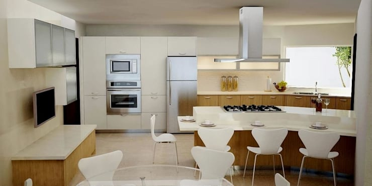 modern Kitchen by JS ARQUITECTURA