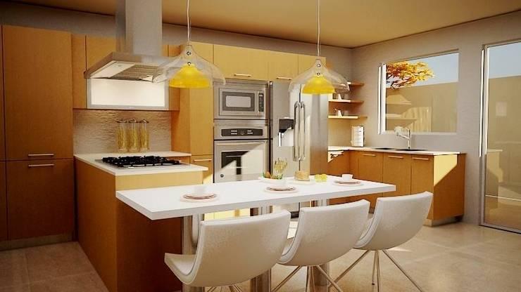 Cocinas Contemporáneas de JS ARQUITECTURA Moderno