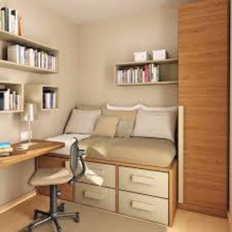 Dormitorios de estilo  por JS ARQUITECTURA