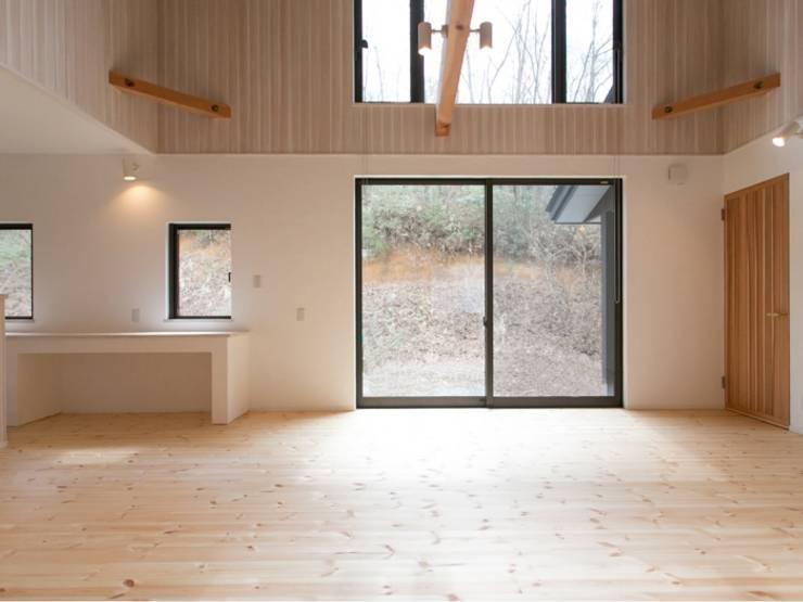 IZUMI HOUSE オリジナルデザインの リビング の 株式会社テイクス設計事務所 オリジナル