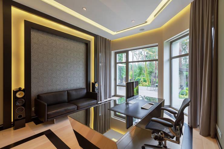 Projekty,  Domowe biuro i gabinet zaprojektowane przez U-Style design studio