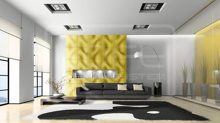 Panele Dekoracyjne 3D - Loft Design System - model Curves: styl , w kategorii Ściany i podłogi zaprojektowany przez Loft Design System