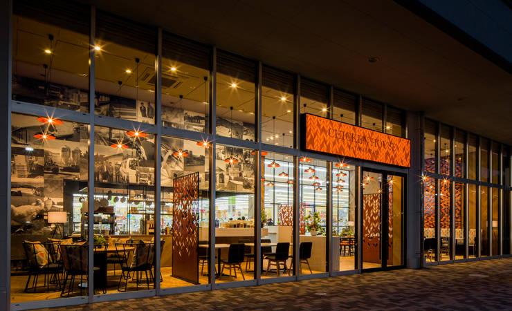 FACADE-1 モダンなレストラン の 株式会社DESIGN STUDIO CROW モダン