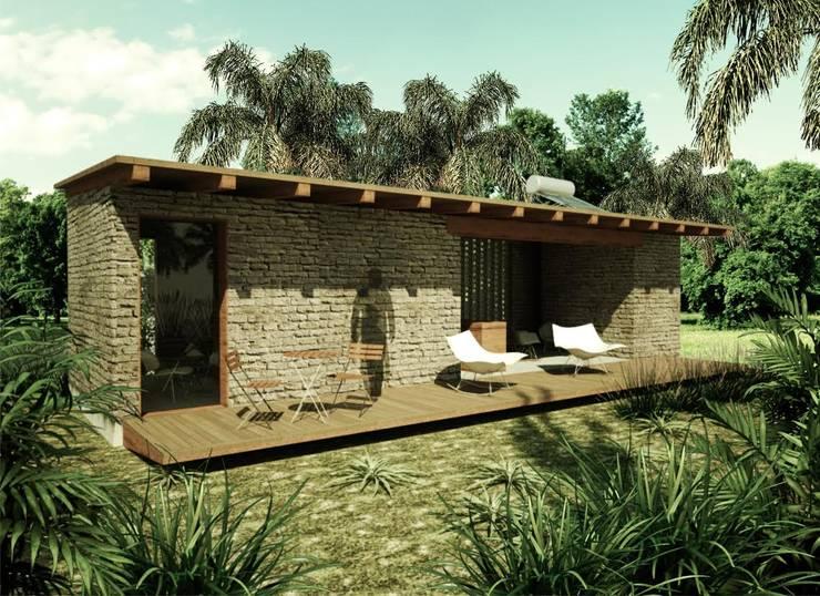 Cabaña: Casas de estilo  por GET ARQUITECTURA
