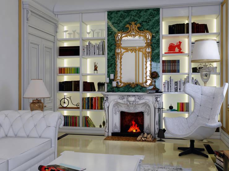 Abb Design Studio – (Rusya Büyükelçiliği) TM - Oturma Odası:  tarz , Klasik