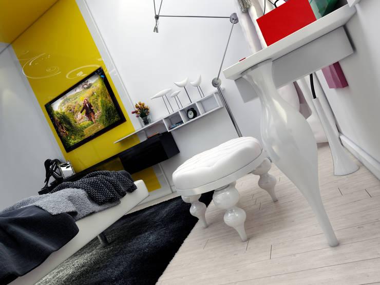 Abb Design Studio – E&C Ailesi – Yatak Odası:  tarz Yatak Odası