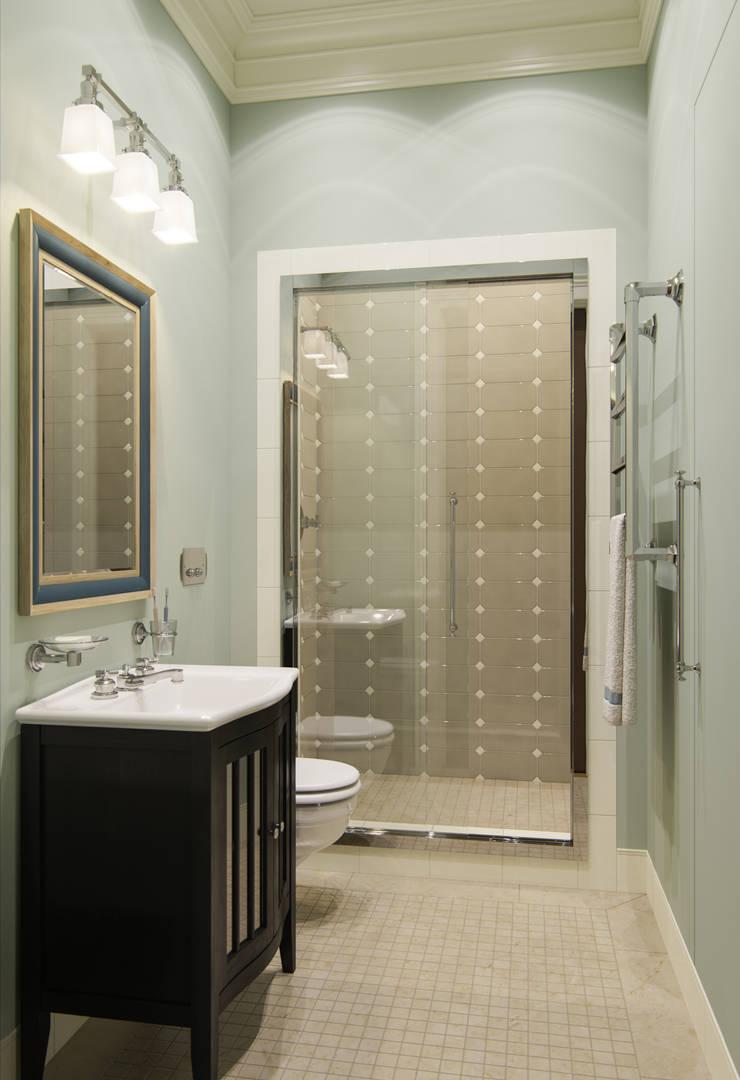 Квартира в ЖК Садовые Кварталы: Ванные комнаты в . Автор – MARION STUDIO