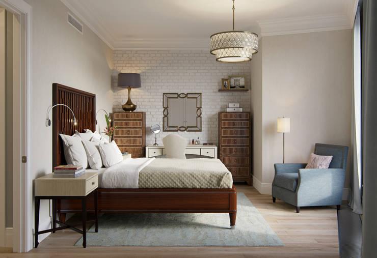 Квартира в ЖК Форт Кутузов: Спальни в . Автор – MARION STUDIO