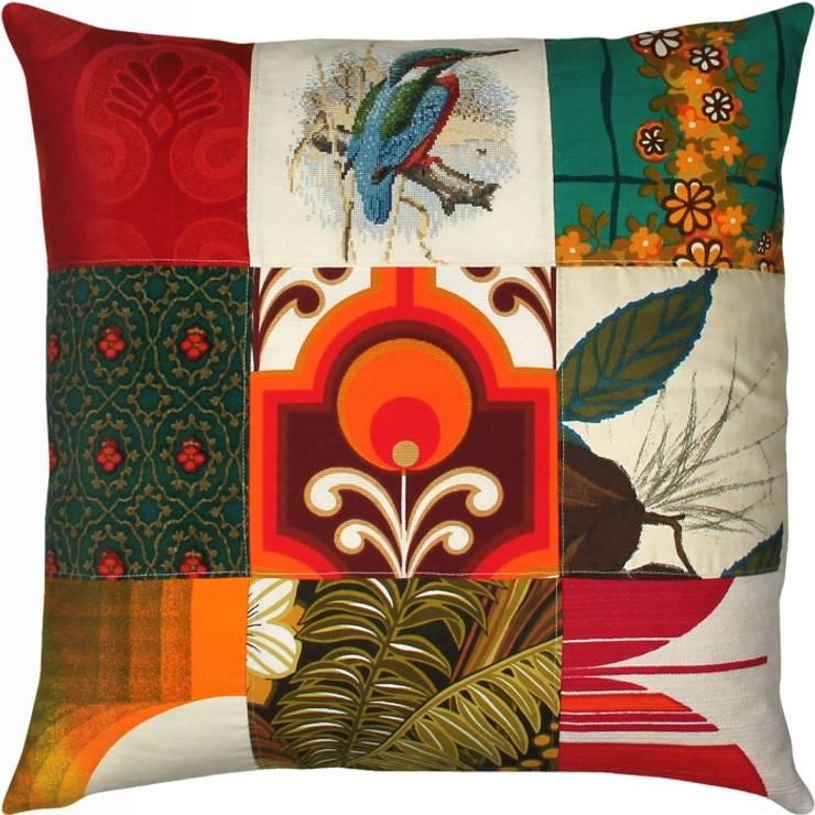 Kussen patchwork:  Woonkamer door Funky Stuff Design